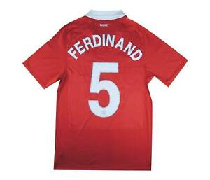 Manchester United 2010-11 Authentic Home Shirt Ferdinand #5 S Soccer Jersey
