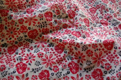 140cm Tela Polycotton Floral-Vintage-Retro-Alta Calidad-cover
