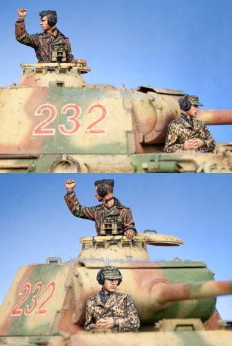ALPINE MINIATURES 35141, WSS Panzer Commander Set (2 Figures), SCALE 1 35