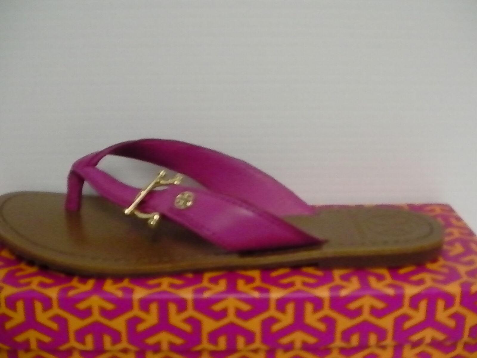 Señora tory burch Nora plana plana plana Thong-mestico fucsia rosadodododo tamaño 7,5 us 1f1ed4