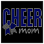 Cheer Mom Bow Sport Team Cheerleader Bling Rhinestone Transfer Hot Fix Iron On