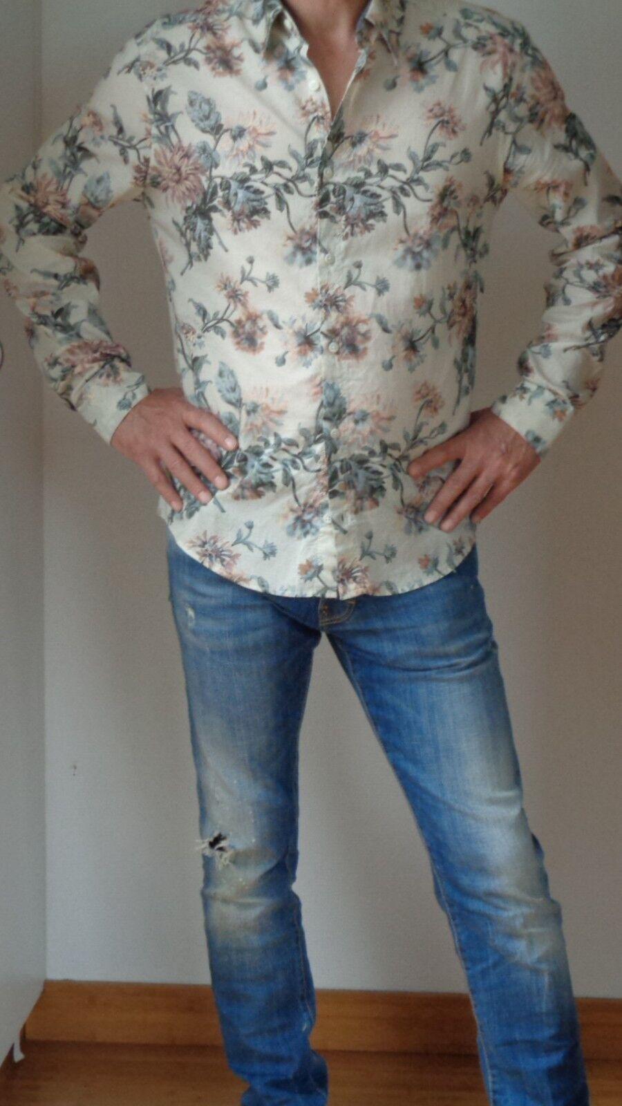 Kenzo Chemise fleurie en coton très léger - Taille L -