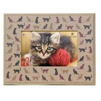 Dog Speak Cat Lover Picture Frame - Cats All Around - Made In The Usa