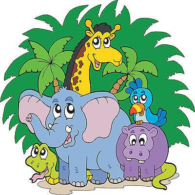 Sticker enfant Animaux de la jungle réf 823