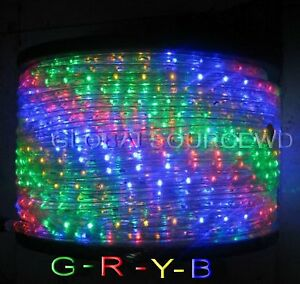 150/' FEET LED Rope Lights Choose You Color 1//2 //13MM 1656 LEDs With Accessories