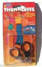 New Vintage His & Her Thumbcuffs Funny Prank Gag Gift (Great For Key Chain)