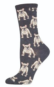 French-Bull-Dog-Socks-Ladies-Grey-Frenchie-Secret-Santa-Gift-Socksmith-Christmas