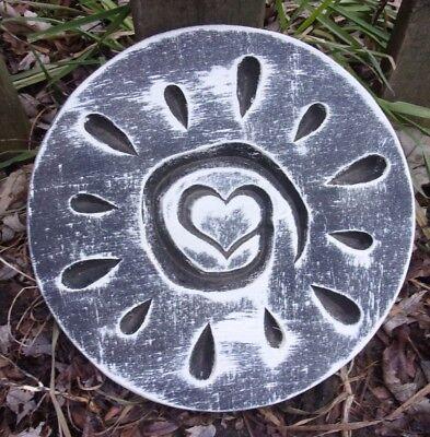 """Plastic Sun plaque mold concrete plaster garden casting mould 11.5/"""" x 1//2/"""" thick"""
