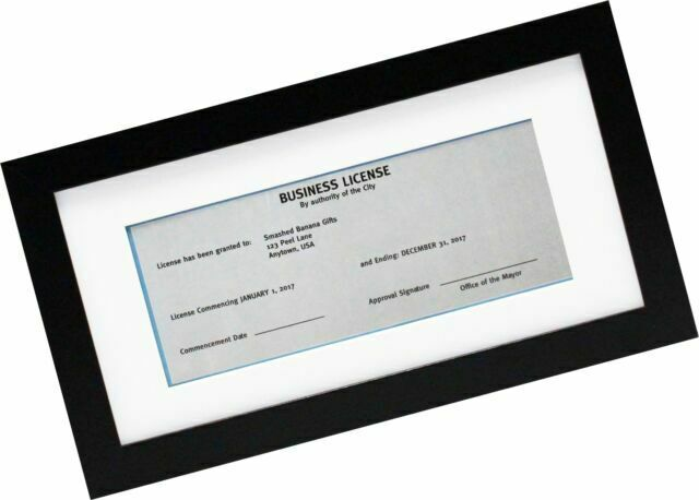 5x10 black gallery business license frame with 3 5x8 mat wide molding and for sale online ebay ebay
