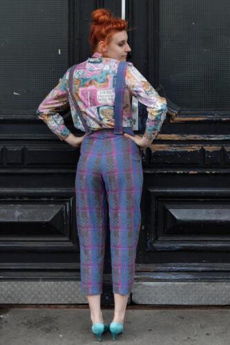 Women Violet 90's Violet Femme Latin Vintage Latin Blouse True 90's Blouse Bleu HqP7xwAxn