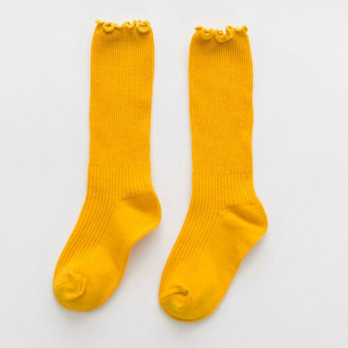 Cotton Cute Toddler Kid Baby Girl Knee High Long Socks Spring Autumn Stockings