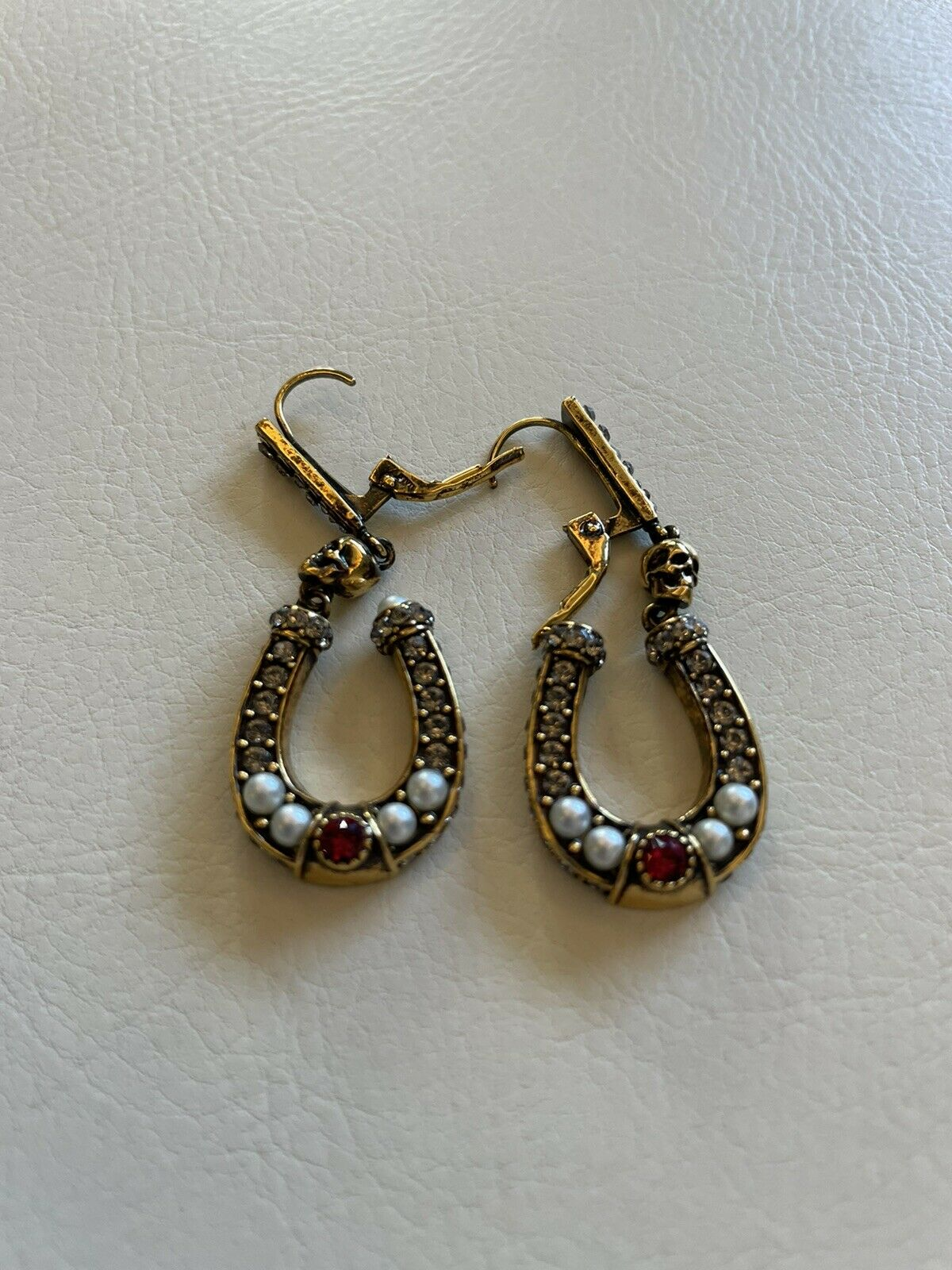 Alexander Mcqueen Horseshoe Earings, Didnt Wear Them, Great Condition