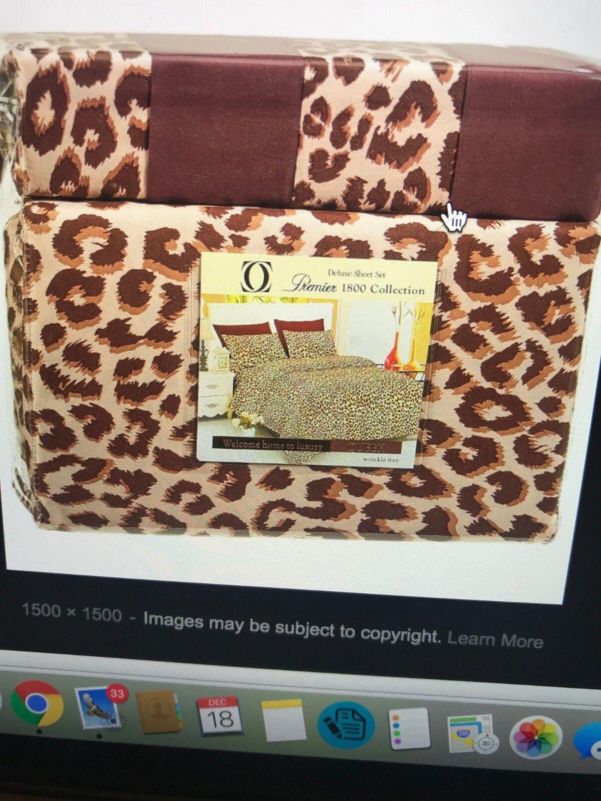 Leopard print sheet set (King)