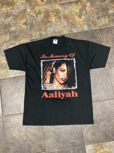 vintage 2001 aaliyah Rap Tee XL 23.5x31