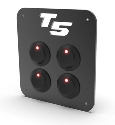 T5 TRANSPORTER VW ELECTRICAL CONTROL ROCKER SWITCH PANEL 12V LED CAMPER VAN 4