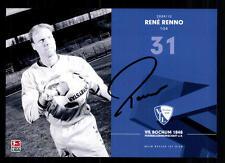 Rene Renno 1 AUTOGRAFO scheda VfL Bochum 2009-10 ORIGINALE + a 110854
