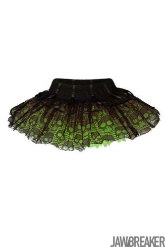 Jawbrekaer Femme Ghoul Tutu vert Mini Jupe Jupe Alternative Gothique