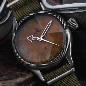 Fliegeruhr-48mm-B-Uhr-XXL-Militaer-AVIATOR-Vintage-Stil-STEAMPUNK-Aviation-DIESEL