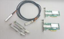 10G Netzwerk Set 2x Mellanox ConnectX-3 10Gigabit NIC 10GBe + 1x 3m SFP+ Kabel