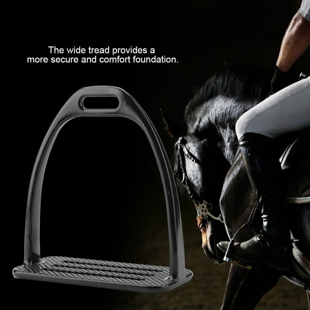 Stirrups Anti-Slip Horse Stirrups Riding Saddle Safety Bendy Steel Foot Support