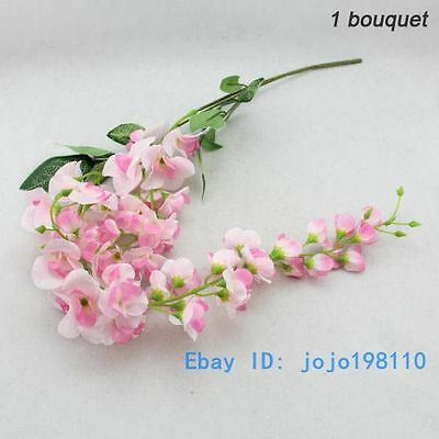 1 PCS Artificial Wisteria Silk Flower Home Wedding Party Decoration NO VASE F107