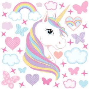Unicorn-wall-stickers-large-kids-girls-rainbow-pink-bedroom-decals-unic04