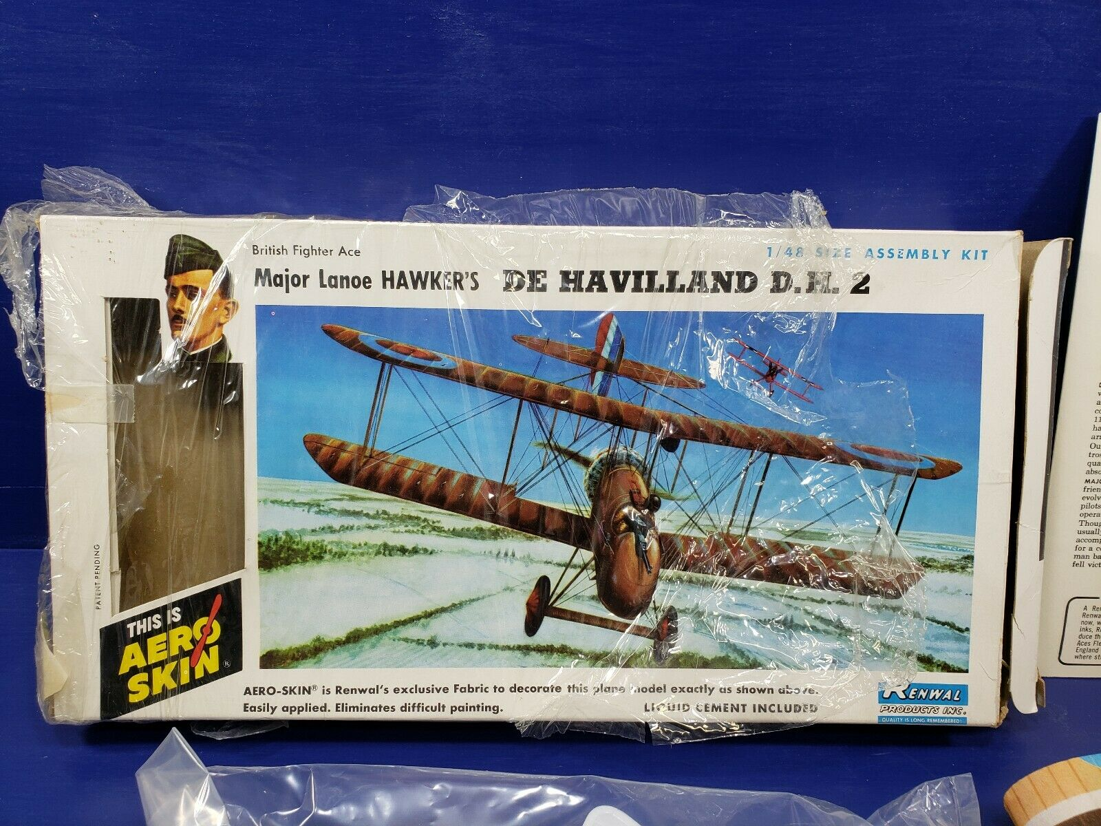 Aero skin  Major lanoe hawkers De havilland D.H.2