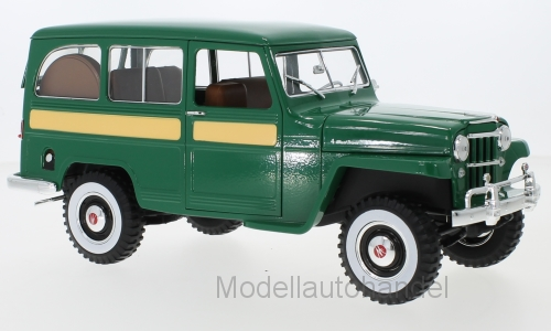 Jeep Jeep Jeep Willys Station Wagon, verde 1955 - 1 18 los Lucky cast New   bbc77e
