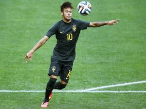 Nike Brazil Authentic Neymar Jr Soccer Match Jersey Paris St Germain ... 0cefc1c89