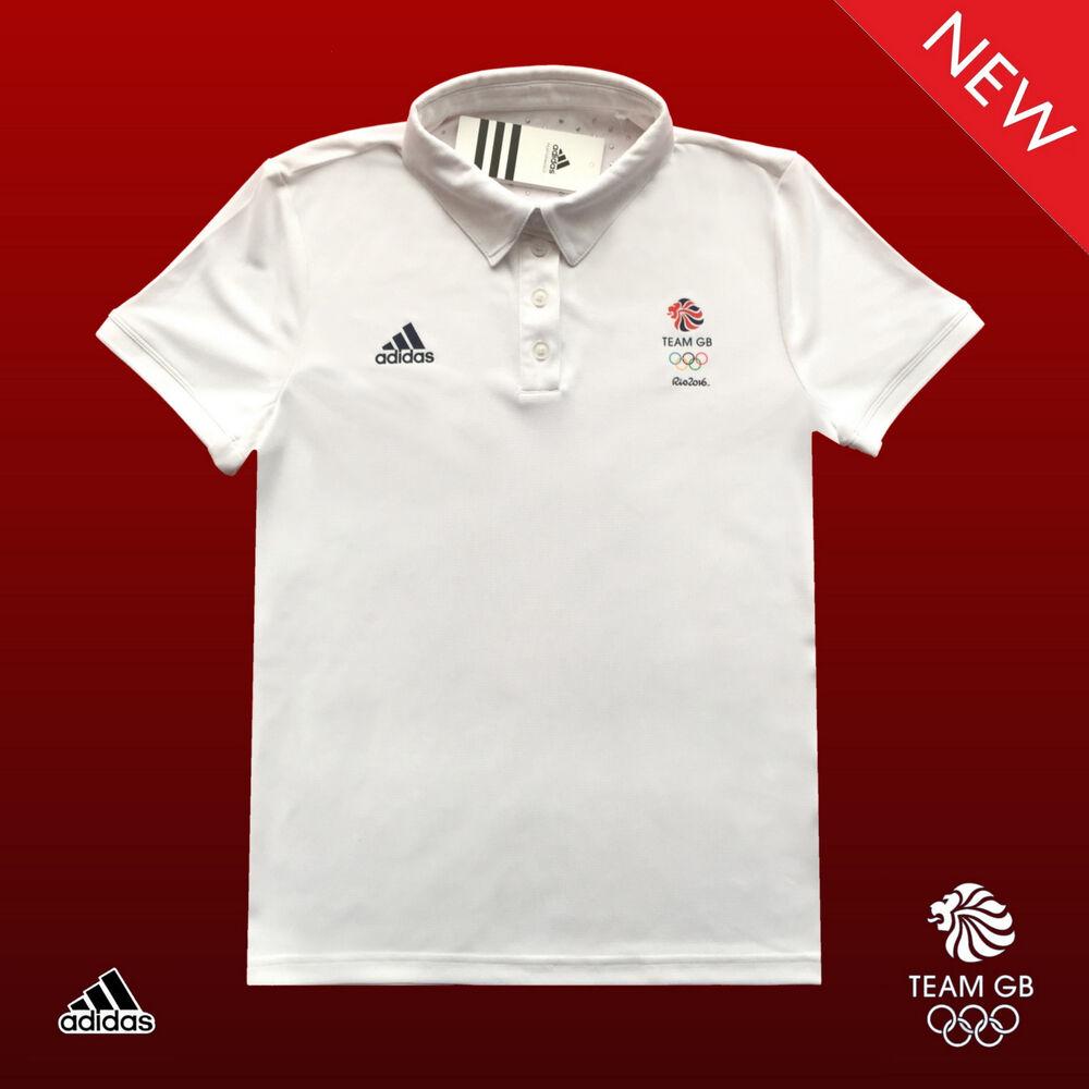 Adidas Team Gb Problème Unisexe Sportif D'élite Climachill Polo Shirt Taille 14 32/34 100% D'Origine