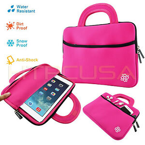 10-034-Inch-Pink-Tablet-Neoprene-Handle-Case-Sleeve-Bag-for-New-Apple-iPad-Air