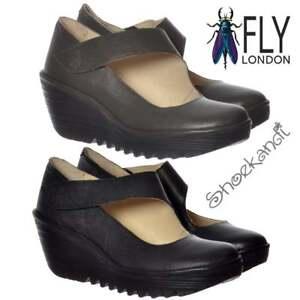 Svart Work Casual Ny London Mary Yasi Sko Mousse Wedge Jane 682 Lær Ladies Full Fly axqzOqfg