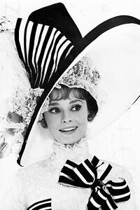 6af67855360 Image is loading Audrey-Hepburn-Huge-Hat-My-Fair-Lady-11x17-