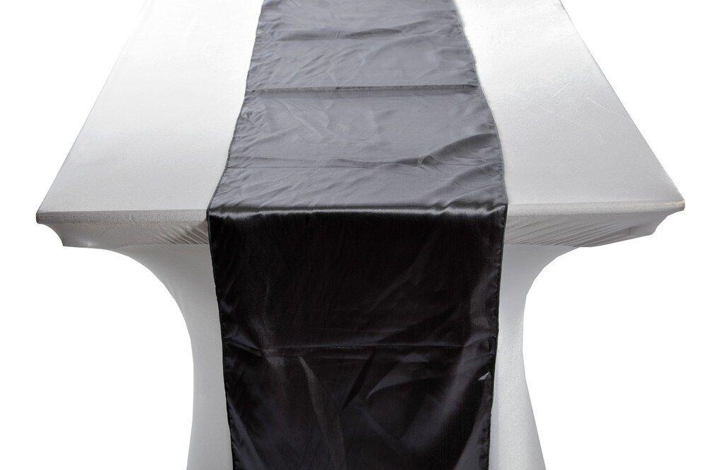 10 Zinn Satin Hochzeit Tischläufer UK 35.6cmx274cm