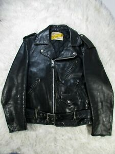 SCHOTT-PERFECTO-618-Motorcycle-Leather-Jacket-Size-SM-38-Ladies-of-Harley-Punk