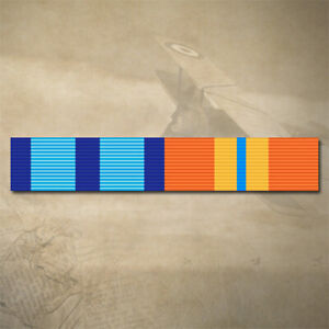 NSW POLICE AND ACT EMERGENCY MEDAL RIBBON BAR STICKER / DECAL | WATER & UV PROOF
