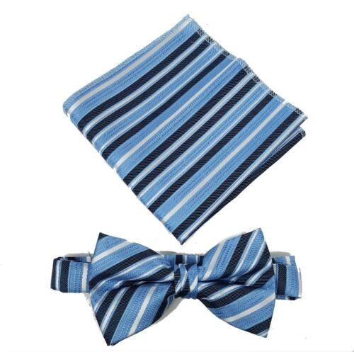 Pocket Square Set  Size Toddler 2-4 kids 5-7 Boy s 8-18 Boys Striped Bow Tie