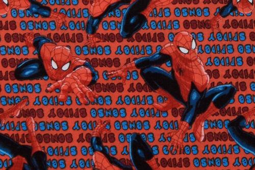 Spidey Sense Quilting /& Crafts 100/% Cotton Red Spider-Man Fabric