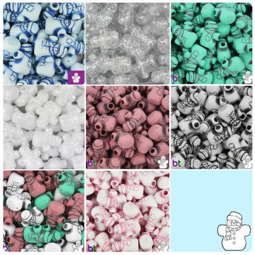 BeadTin 22mm Snowmen Pony Beads 24pcs Style choice