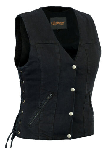 Gun Vest W Heaven Kvinders Black Denim Cancer Wings Design Lommer Can Wait FqBH74n