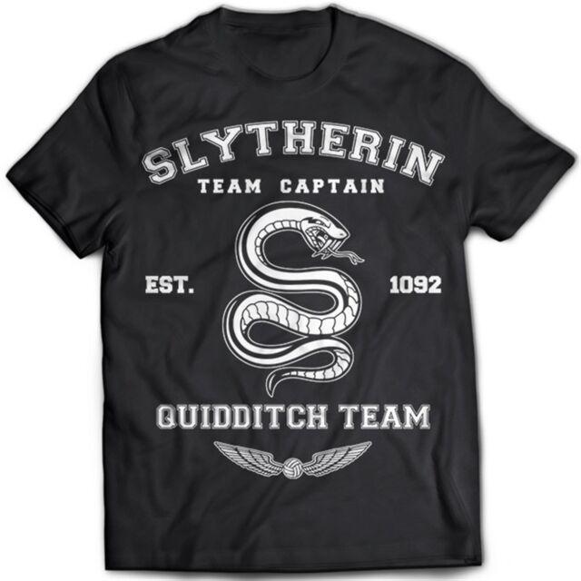 9207 Slytherin Team T-Shirt Harry Potter Hufflepuff Ravenclaw Gryffindor Hogwart
