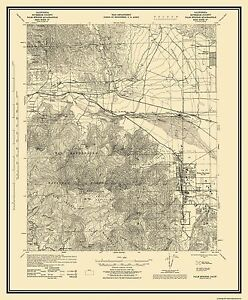 Topographical Map Print - Palm Springs California Quad - USGS 1928 ...
