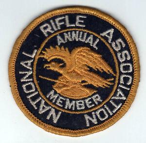 Vintage NRA patch annuel membre National Rifle Association de chasse armes fusils