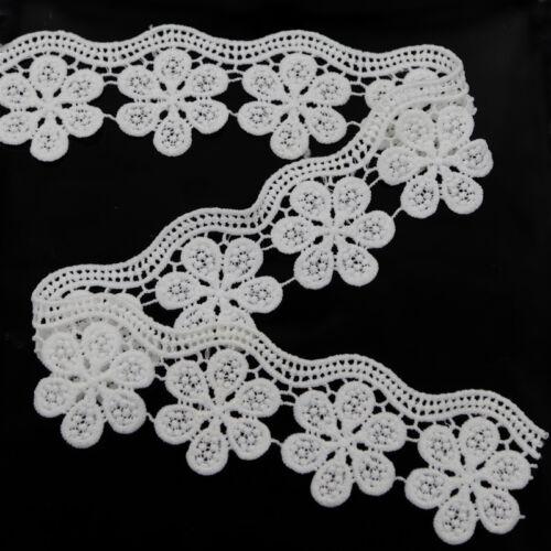 2 Yards Spitze Borten Bänder Handarbeit DIY Brautkleid Lace Hochzeit Verzierung