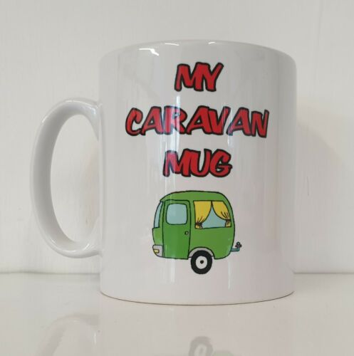 Printed Mug MY CARAVAN MUG Novelty Holiday Camping Motorhome Gift Present