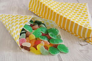 100 papiert ten spitzt ten herzen gelb 19 cm s igkeiten candybar beutel t ten ebay. Black Bedroom Furniture Sets. Home Design Ideas