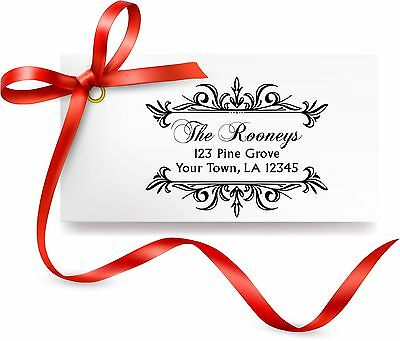UNMOUNTED PERSONALIZED SELF RETURN ADDRESS RUBBER STAMP R238