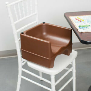 Stupendous Details About Brown Dual Height Plastic Nsf Stackable Restaurant Child Booster Chair Seat Dailytribune Chair Design For Home Dailytribuneorg