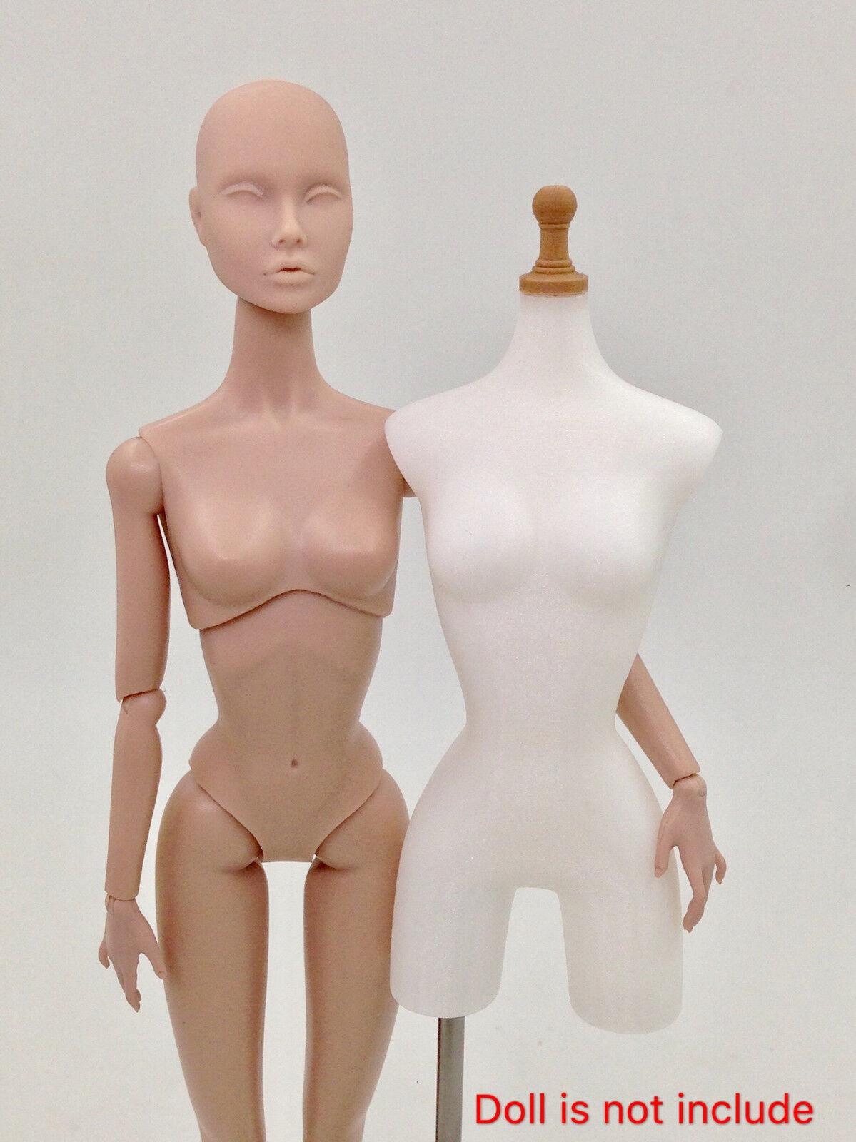1 6 moda realeza Poppy parker muñecas tamaño vestido de forma Maniqui Para Bricolaje blancoo