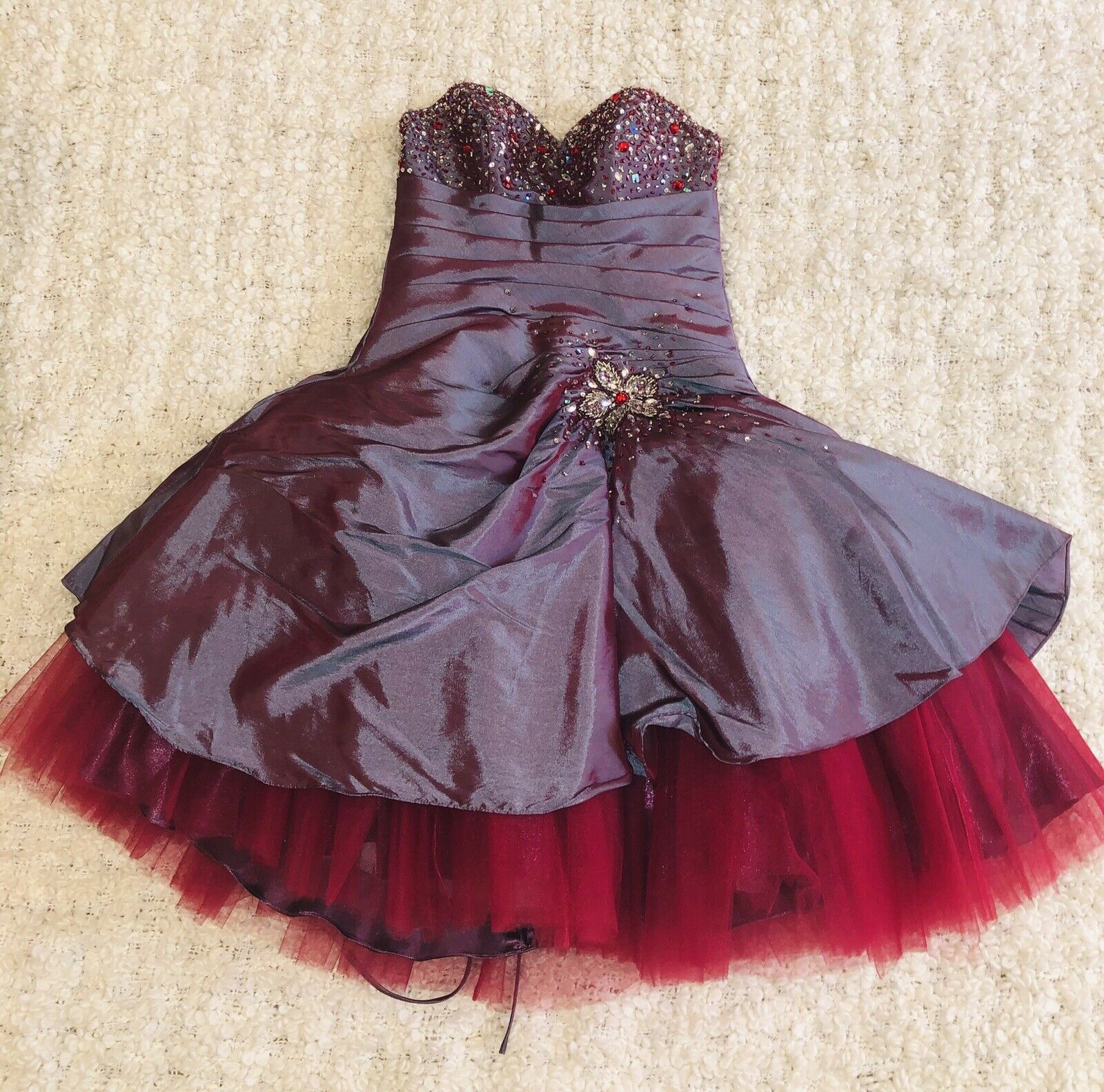 Unique Boutique Sequinned Embellished Evening Prom Mini Dress NWT